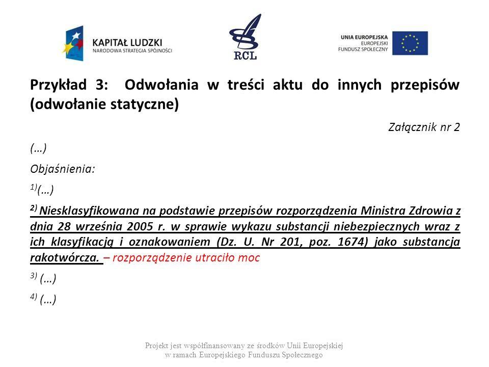 Przykład 4: Nowelizacja odnośnika § 1.W rozporządzeniu Ministra Finansów z dnia 22 grudnia 2011 r.