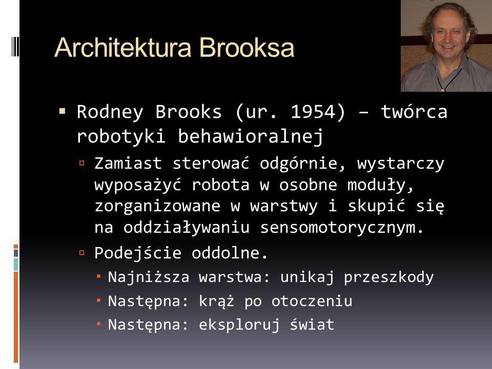 Robotyka behawioralna Roboty o złożonym zachowaniu, o ograniczonej liczbie reprezentacji otoczenia, zwykle stopniowo poprawiające działania przez sprzężenia sensomotoryczne.