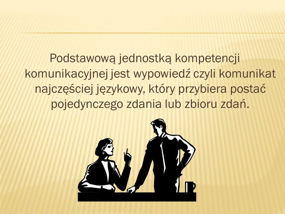 Niezbędnym warunkiem życia wśród ludzi jest posiadanie umiejętności porozumiewania się.