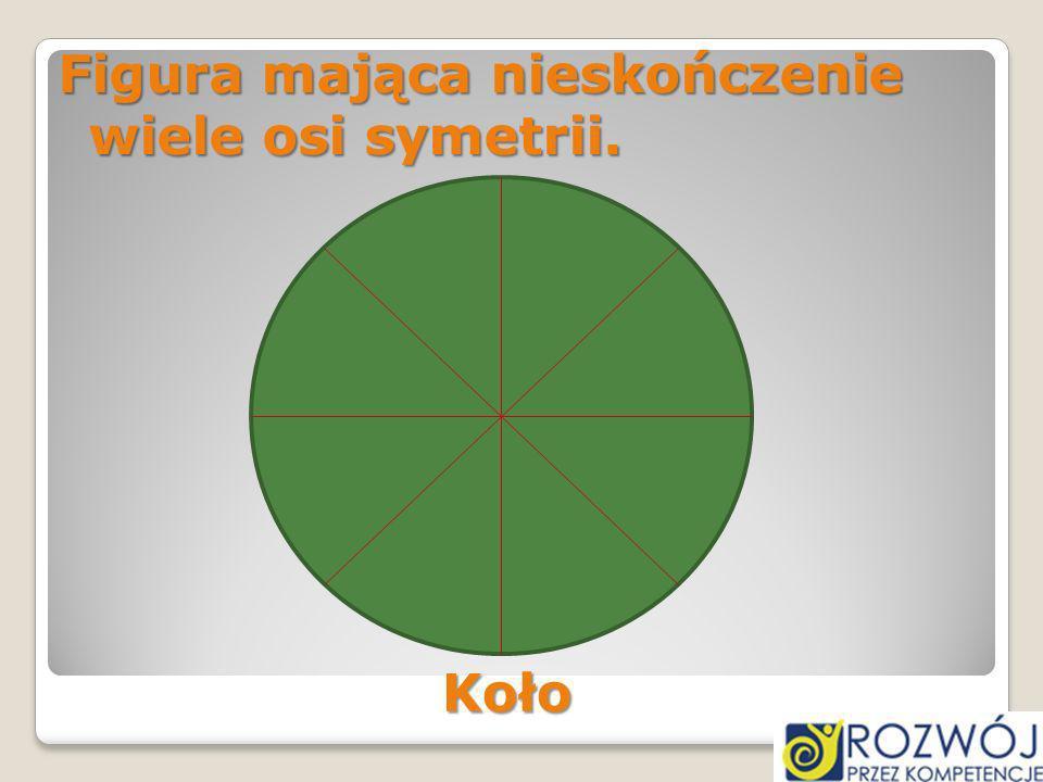 Figura mająca nieskończenie wiele osi symetrii. Koło