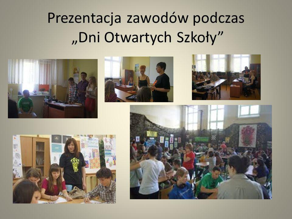 Prezentacja zawodów podczas Dni Otwartych Szkoły