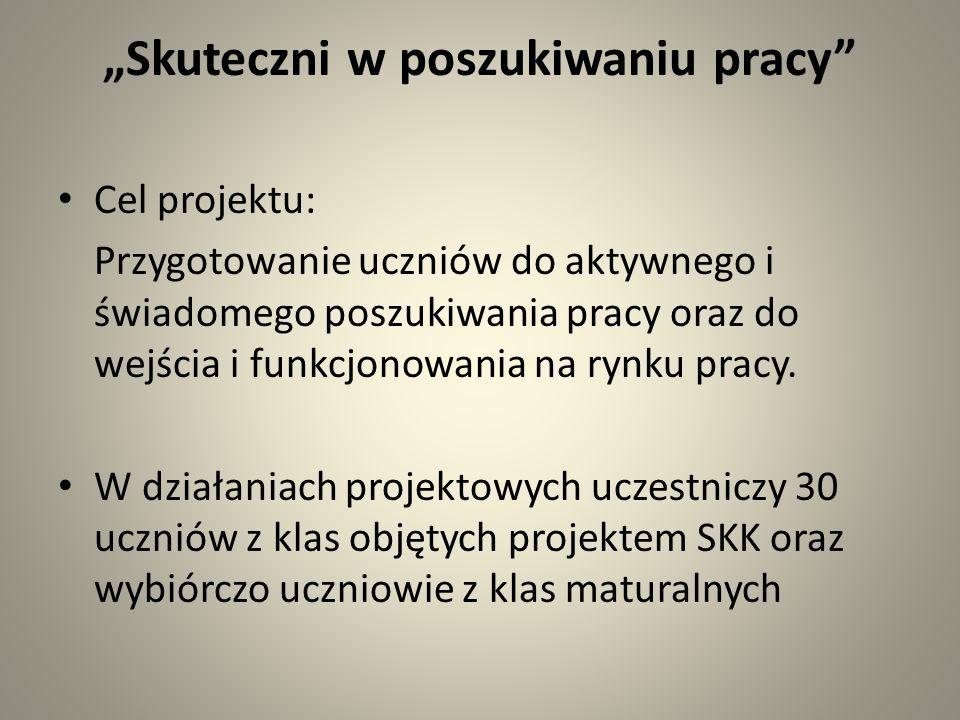 Zasady sporządzania dokumentów aplikacyjnych w języku polskim i angielskim 7 i 14 stycznia młodzież naszej szkoły uczyła się w jaki sposób przygotować dokumenty aplikacyjne w języku polskim i angielskim.