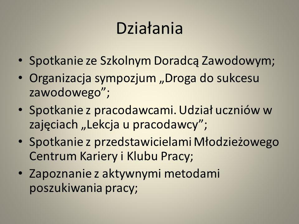 Droga do sukcesu zawodowego 18 października 2012, w ramach IV Ogólnopolskiego Tygodnia Kariery, w Zespole Szkół Ekonomicznych zostało zorganizowane sympozjum Droga do sukcesu zawodowego.