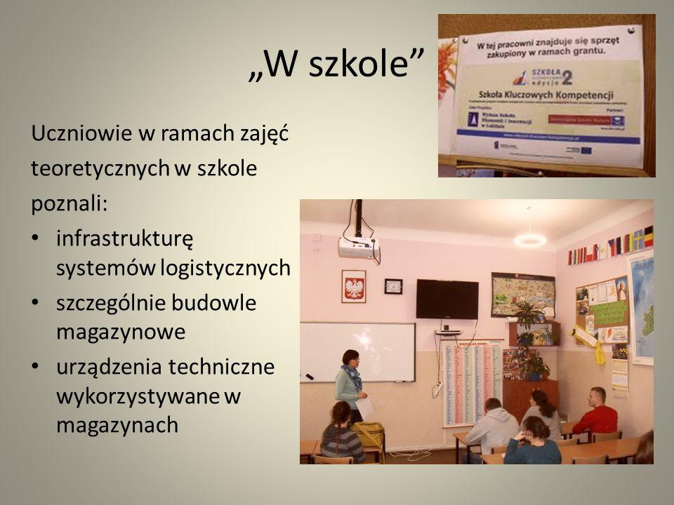 Lekcja u pracodawcy W dniach 23-27.11.2012 r.