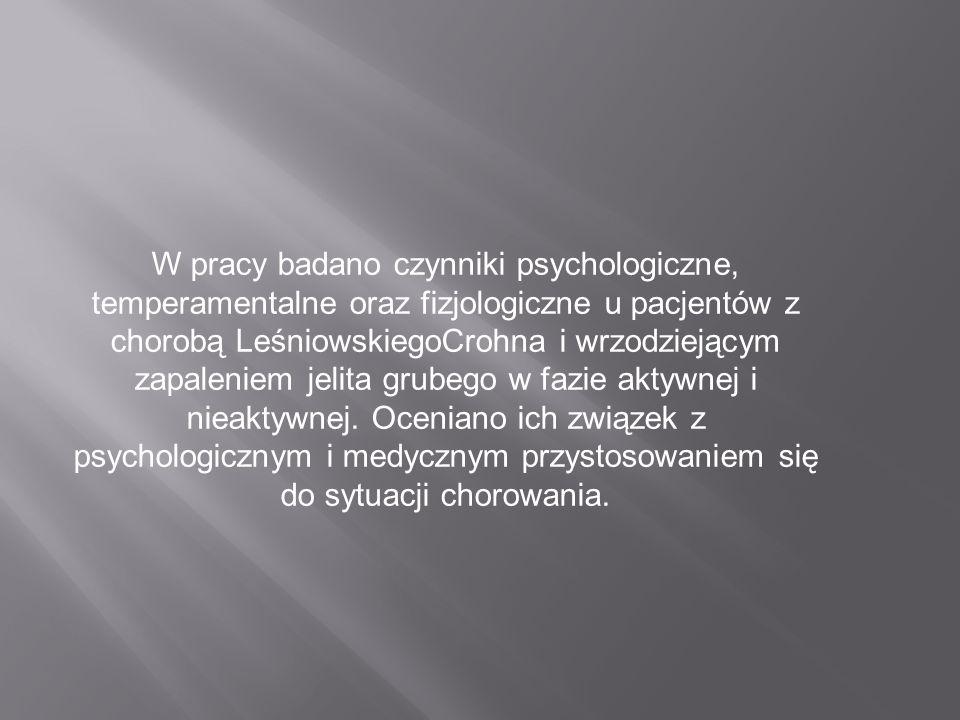 Badanie autorstwa Beaty Lickiewicz, Małgorzaty Zwolińskiej-Wcisło, Jakuba Lickiewicza, Piotra Rozpondka, Tomasza Macha Znaczenie cech osobowości w pro