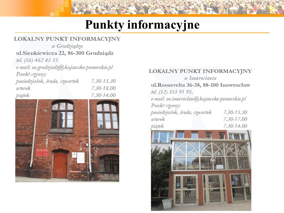 Regionalne Ośrodki EFS Regionalny Ośrodek EFS w Toruniu Plac Św.