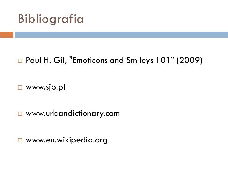 Bibliografia Paul H. Gil,