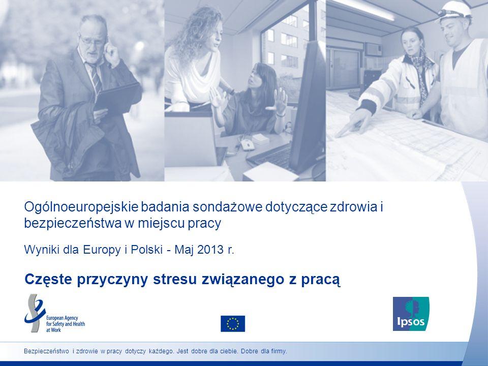 Ogólnoeuropejskie badania sondażowe dotyczące zdrowia i bezpieczeństwa w miejscu pracy Wyniki dla Europy i Polski - Maj 2013 r. Częste przyczyny stres