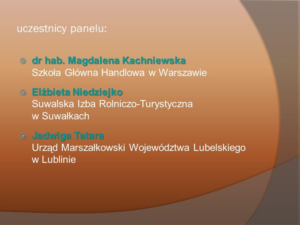 uczestnicy panelu: dr hab. Magdalena Kachniewska dr hab. Magdalena Kachniewska Szkoła Główna Handlowa w Warszawie Elżbieta Niedziejko Elżbieta Niedzie