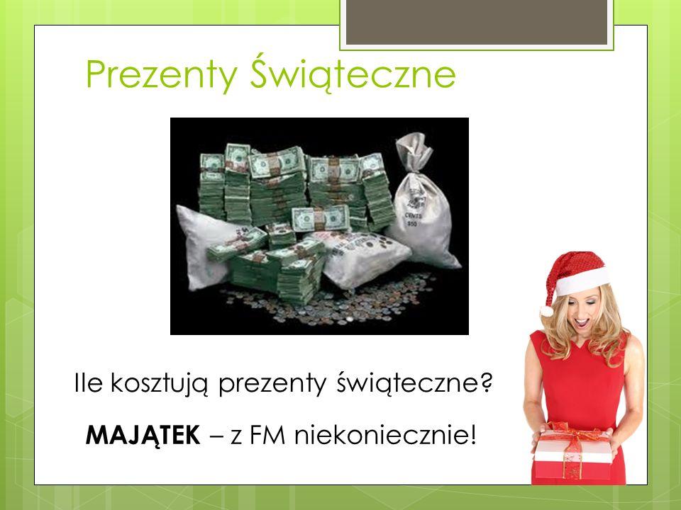 Ile kosztują prezenty świąteczne? Prezenty Świąteczne MAJĄTEK – z FM niekoniecznie!