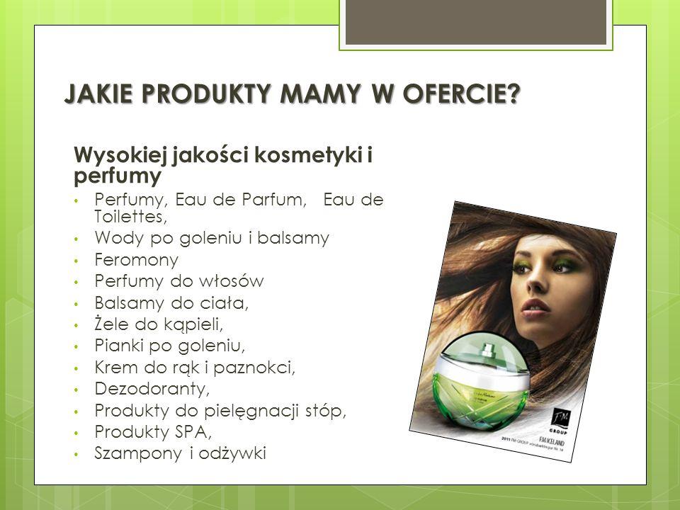 JAKIE PRODUKTY MAMY W OFERCIE? Wysokiej jakości kosmetyki i perfumy Perfumy, Eau de Parfum, Eau de Toilettes, Wody po goleniu i balsamy Feromony Perfu