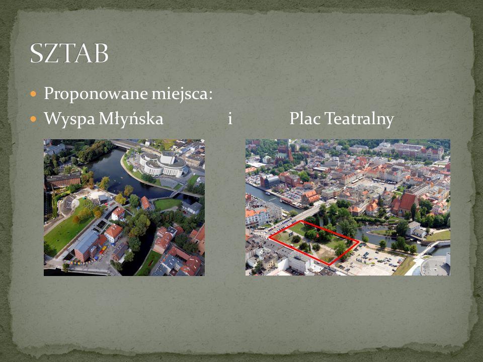 Proponowane miejsca: Wyspa Młyńska i Plac Teatralny
