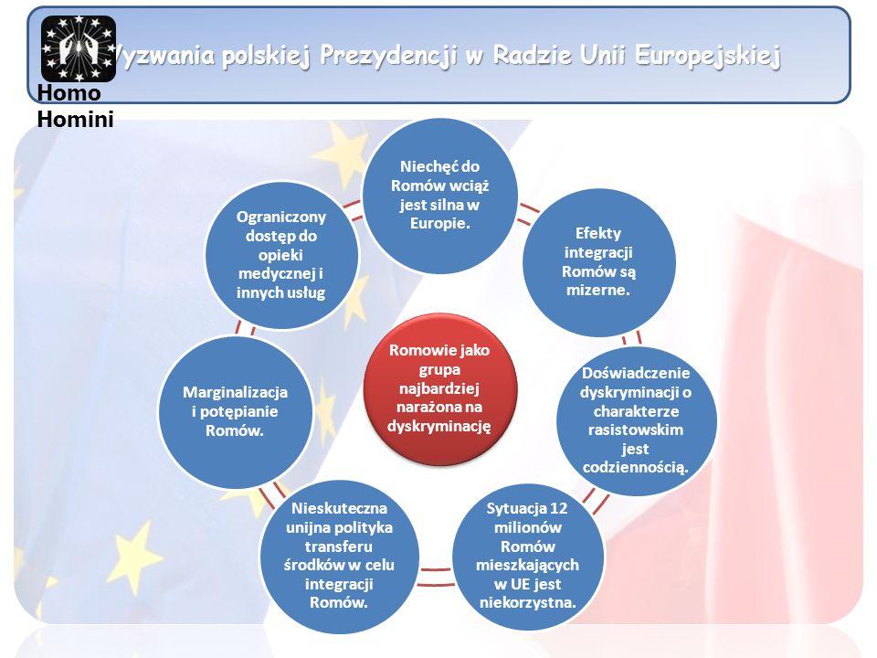 Wyzwania polskiej Prezydencji w Radzie Unii Europejskiej Romowie jako grupa najbardziej narażona na dyskryminację Niechęć do Romów wciąż jest silna w