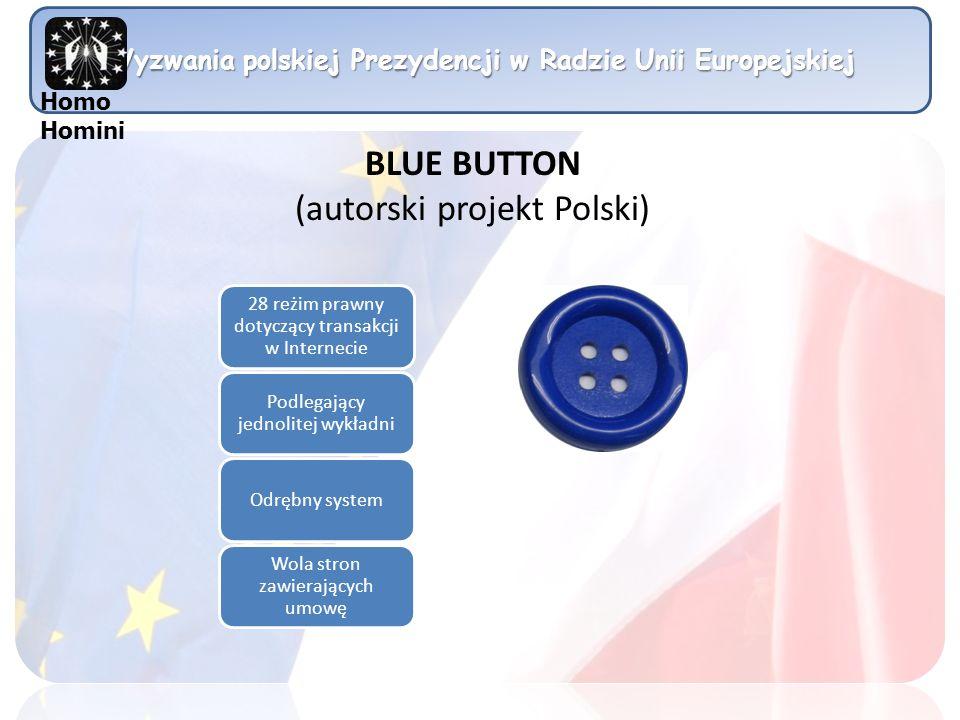 Wyzwania polskiej Prezydencji w Radzie Unii Europejskiej Homo Homini 28 reżim prawny dotyczący transakcji w Internecie Podlegający jednolitej wykładni