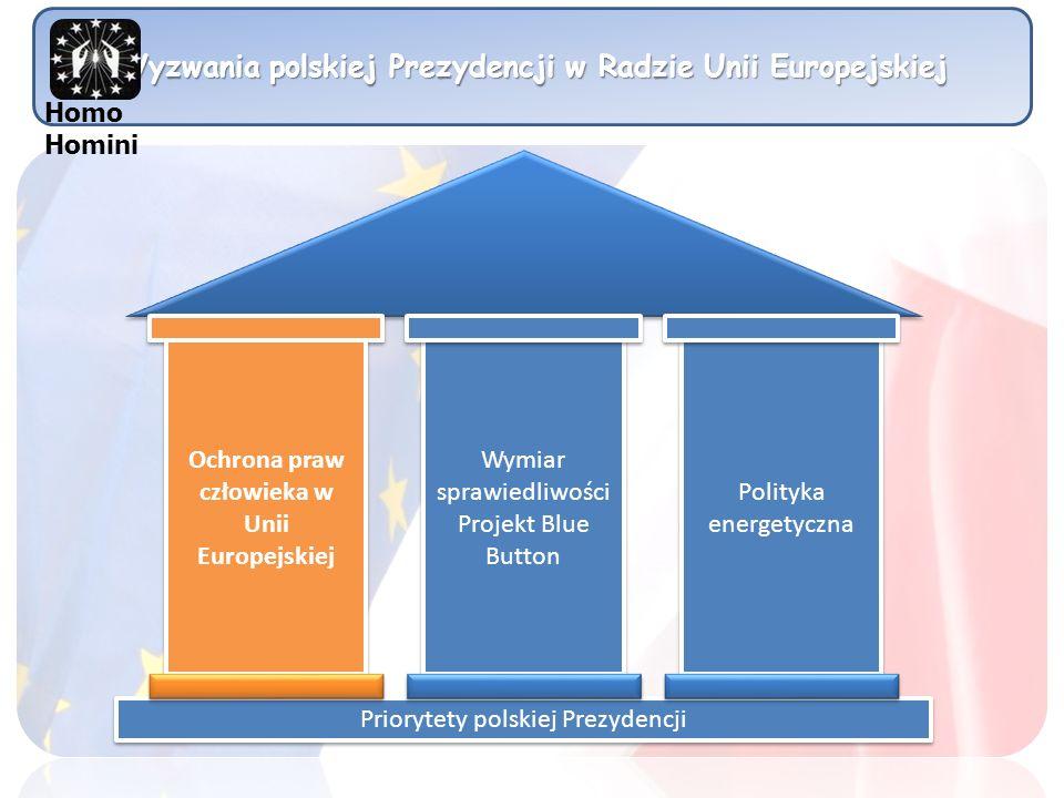 Wyzwania polskiej Prezydencji w Radzie Unii Europejskiej Homo Homini Myśl globalnie, działaj lokalnie.