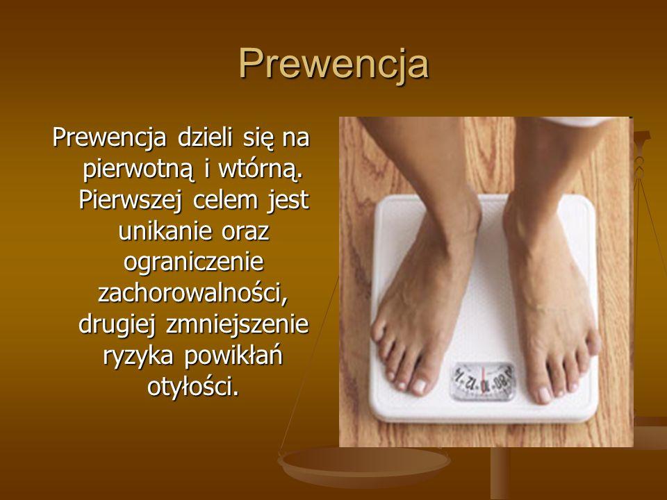 Prewencja Prewencja dzieli się na pierwotną i wtórną. Pierwszej celem jest unikanie oraz ograniczenie zachorowalności, drugiej zmniejszenie ryzyka pow