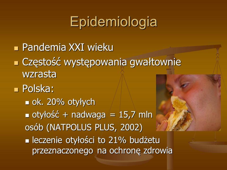 Epidemiologia Pandemia XXI wieku Pandemia XXI wieku Częstość występowania gwałtownie wzrasta Częstość występowania gwałtownie wzrasta Polska: Polska: