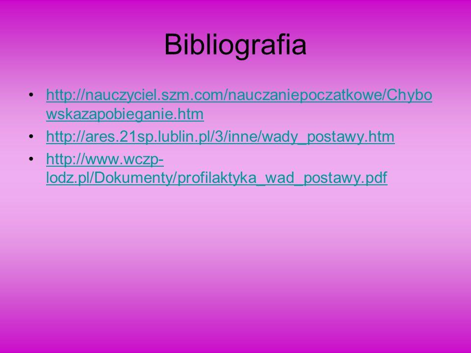 Bibliografia http://nauczyciel.szm.com/nauczaniepoczatkowe/Chybo wskazapobieganie.htmhttp://nauczyciel.szm.com/nauczaniepoczatkowe/Chybo wskazapobiega