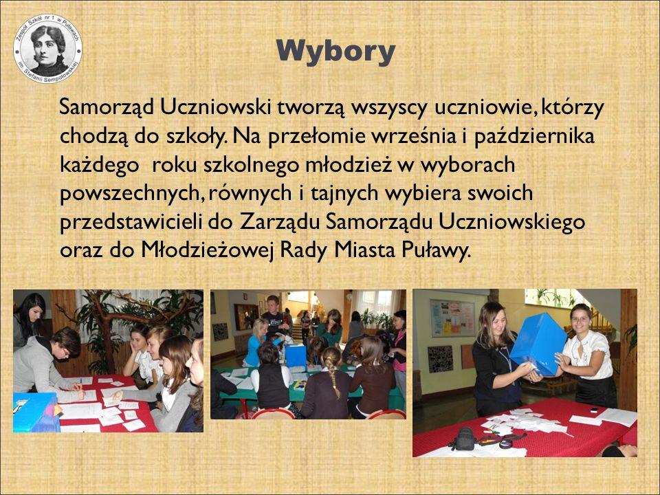 Wybory Samorząd Uczniowski tworzą wszyscy uczniowie, którzy chodzą do szkoły. Na przełomie września i października każdego roku szkolnego młodzież w w