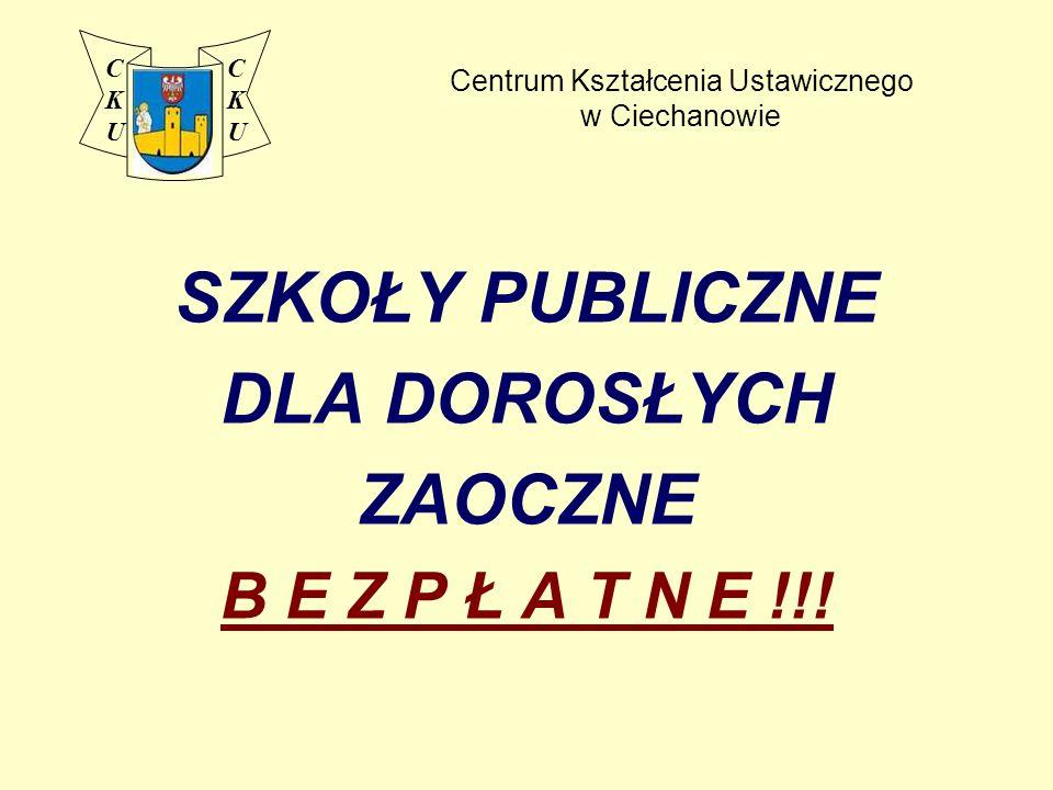 Liceum Profilowane dla Dorosłych Zaoczne profil - ekonomiczno-administracyjny na podbudowie gimnazjum lub 8.