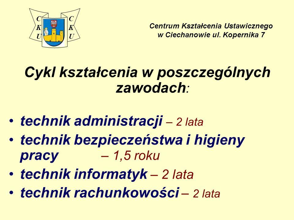 Centrum Kształcenia Ustawicznego w Ciechanowie ul.
