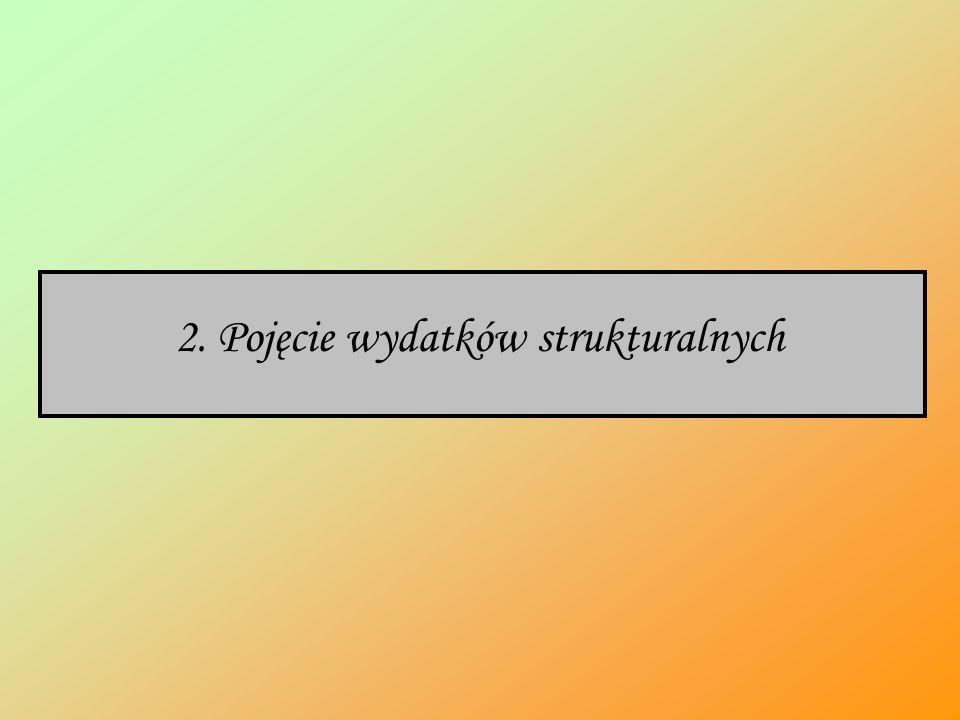 2. Pojęcie wydatków strukturalnych