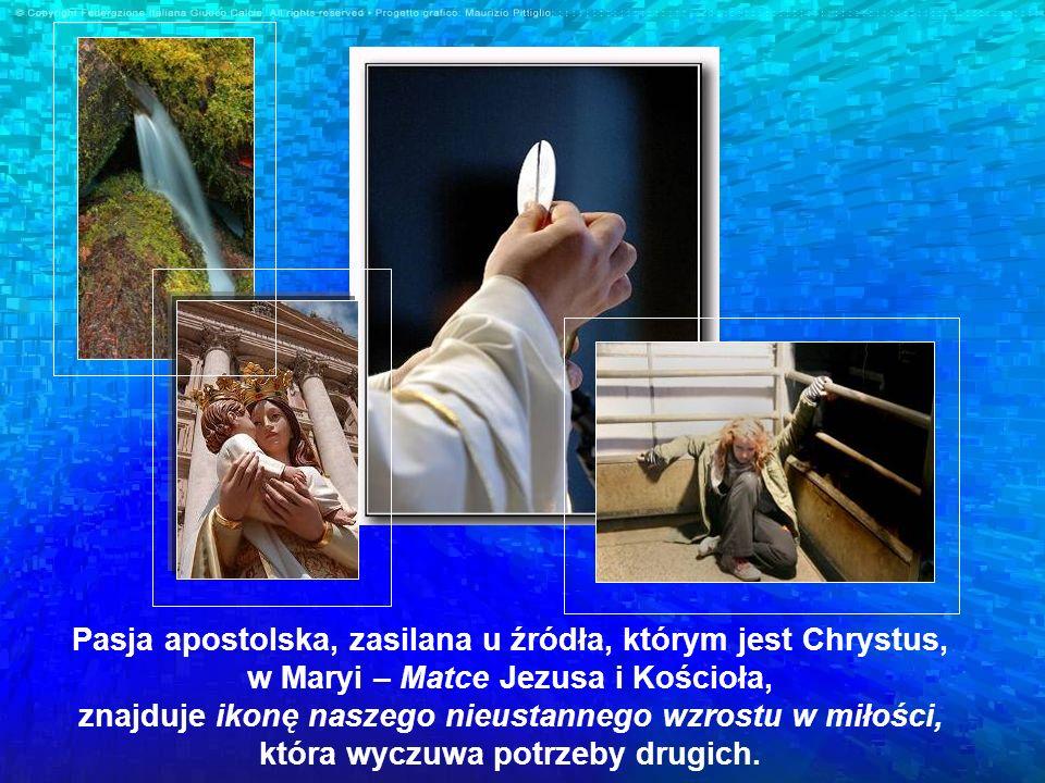 Pasja apostolska, zasilana u źródła, którym jest Chrystus, w Maryi – Matce Jezusa i Kościoła, znajduje ikonę naszego nieustannego wzrostu w miłości, k
