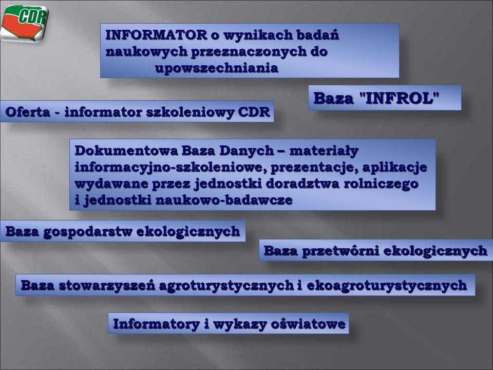 INFORMATOR o wynikach badań naukowych przeznaczonych do upowszechniania Baza