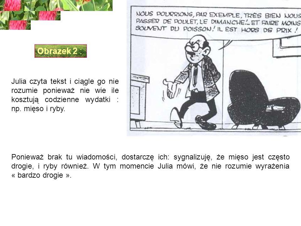 Julia czyta tekst i ciągle go nie rozumie ponieważ nie wie ile kosztują codzienne wydatki : np.