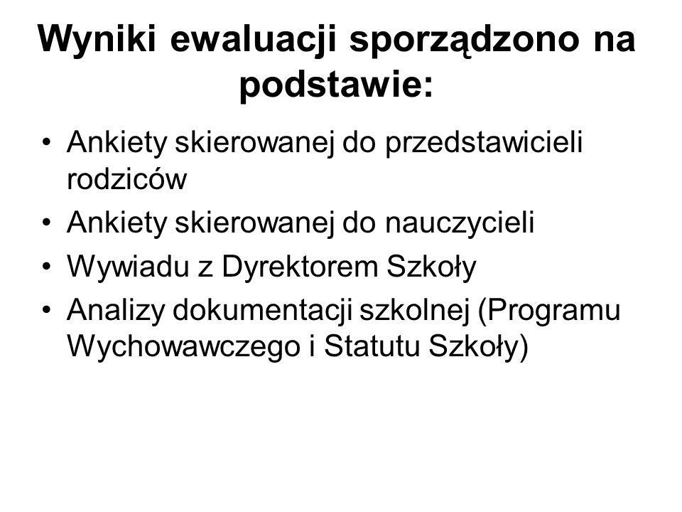 IV. Analiza Statutu Szkoły Z analizy dokumentu wynika, że: