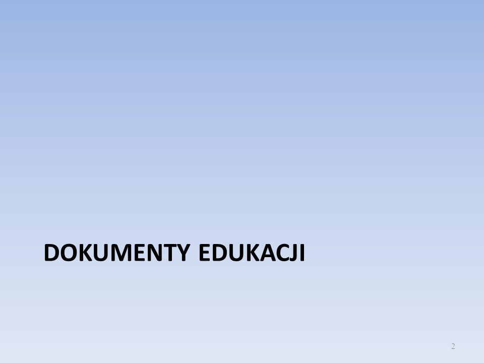Dokumenty programowe Podstawa programowa Program nauczania Szkolny system oceniania Informator egzaminacyjny 3