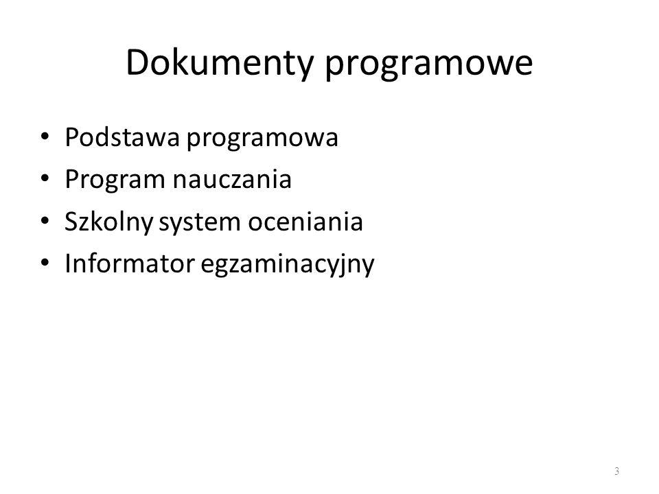 Podstawa Programowa Wydaje: Minister Edukacji Narodowej (rozporządzenie) Dokument najwyższej wagi w edukacji stara: z 23 sierpnia 2007 (Dz.