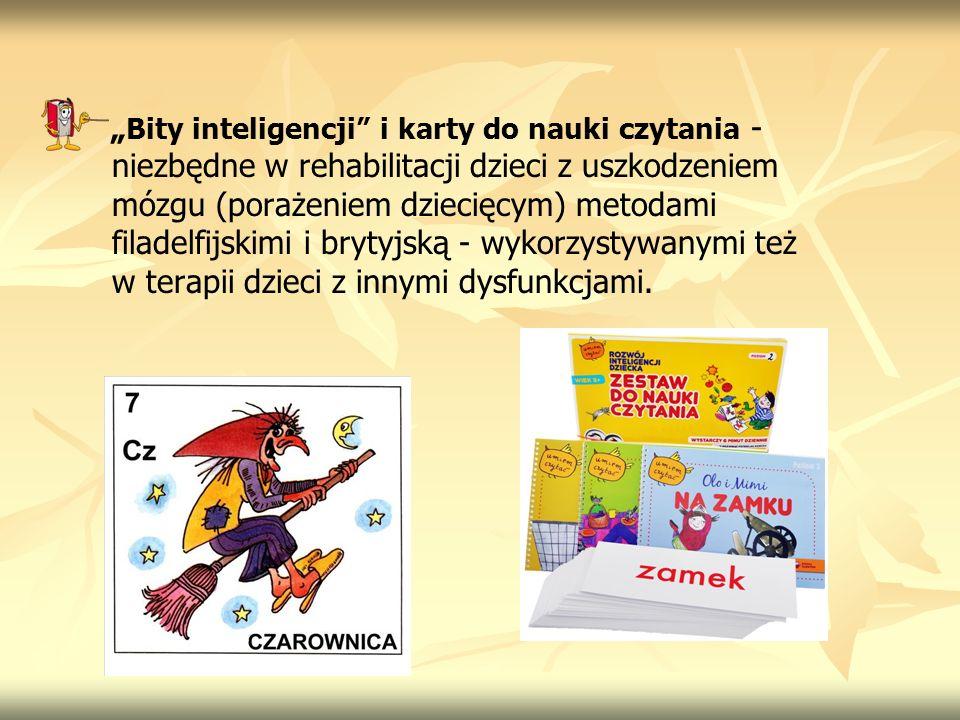 Bity inteligencji i karty do nauki czytania - niezbędne w rehabilitacji dzieci z uszkodzeniem mózgu (porażeniem dziecięcym) metodami filadelfijskimi i