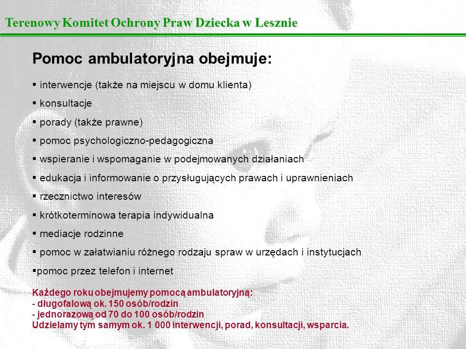 Terenowy Komitet Ochrony Praw Dziecka w Lesznie Zajęcia grupowe: grupa społeczności terapeutycznej Gdzie jestem.
