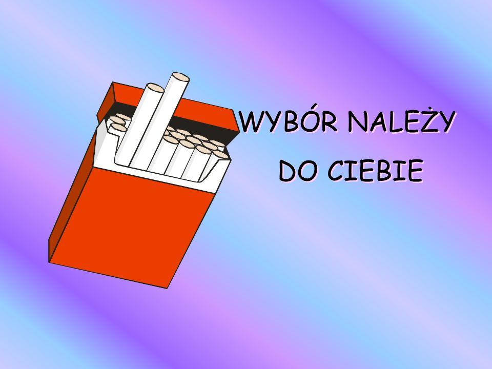 Masz wybór - możesz palić, ale nie musisz! Palenie szczęścia nie daje!