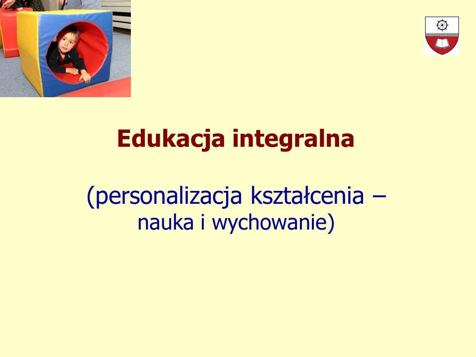 Kodeks Spersonalizowanej Edukacji* Podstawowe zasady: spojrzenie na osobę jako na początek każdego działania, która się przejawia w jej wyjątkowości, autonomii oraz otwartości Z podstawowych zasad wynikają zasady metodyczne, wprowadzane programowo w zarządzaniu oraz funkcjonowaniu placówek * Victor García Hoz Educación personalizada, wyd.
