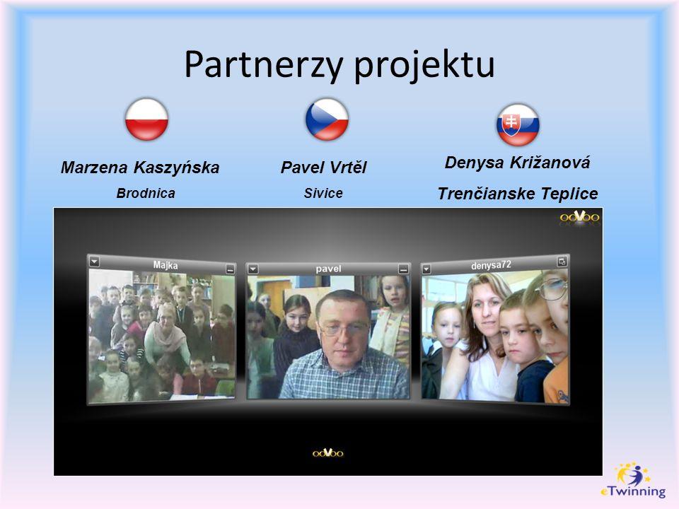 Partnerzy projektu Marzena Kaszyńska Brodnica Pavel Vrtěl Sivice Denysa Križanová Trenčianske Teplice
