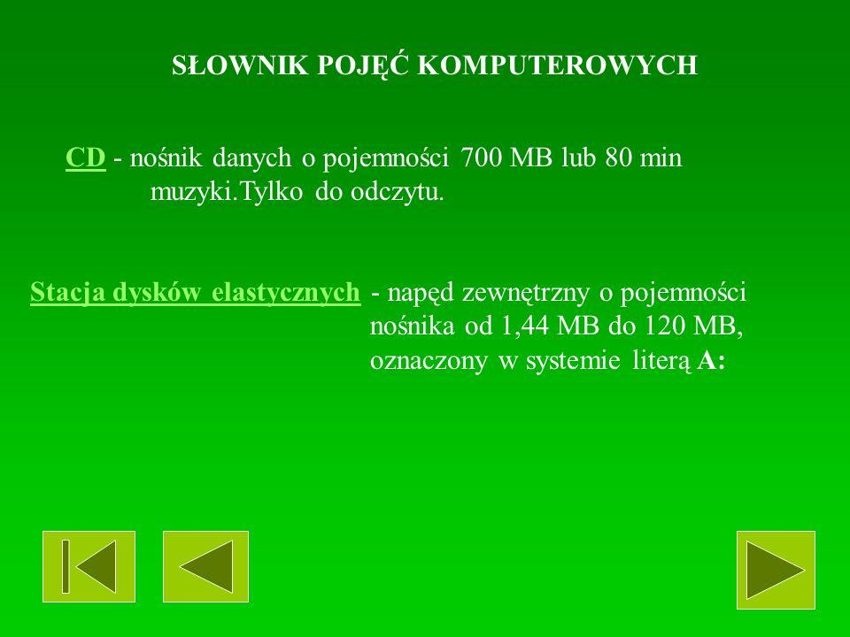 SŁOWNIK POJĘĆ KOMPUTEROWYCH SKANERSKANER - urządzenie umożliwiające wczytanie do pamięci komputera w formie cyfrowej: grafiki, zdjęć i tekstu.