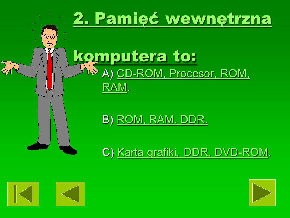 1.Pamięć zewnętrzna komputera to: 1.