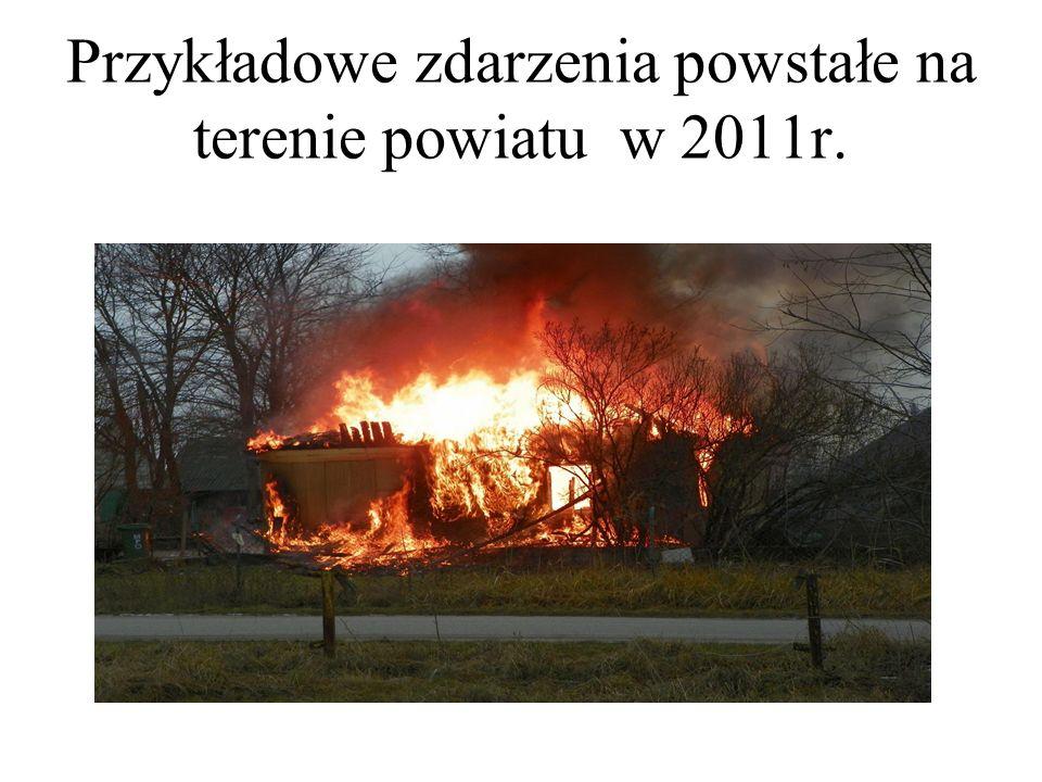 Przykładowe zdarzenia powstałe na terenie powiatu w 2011r.