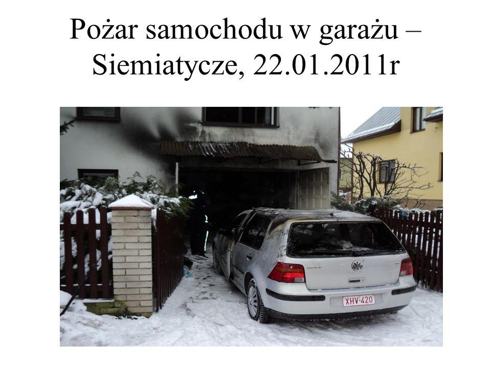 Pożar samochodu w garażu – Siemiatycze, 22.01.2011r