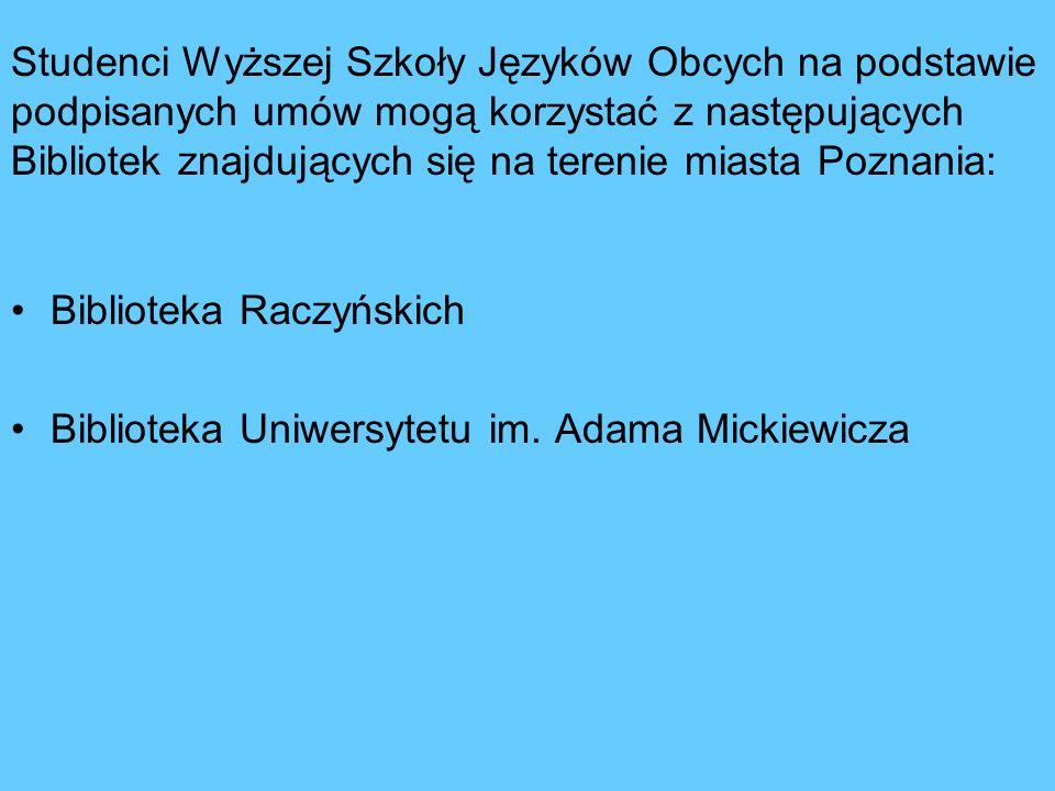 Ogólne wiadomości o Bibliotekach w Poznaniu