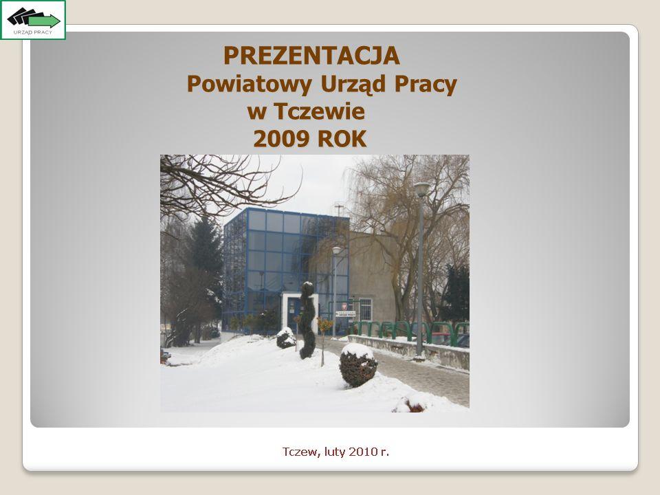 PREZENTACJA PREZENTACJA Powiatowy Urząd Pracy Powiatowy Urząd Pracy w Tczewie 2009 ROK 2009 ROK