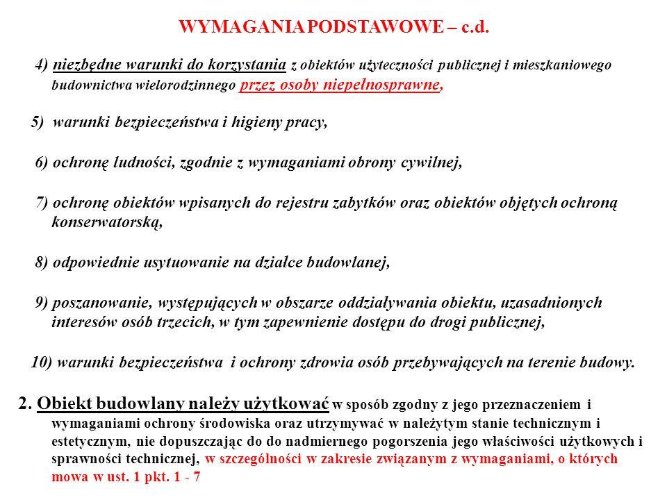 PODSTAWOWE OBOWIĄZKI PROJEKTANTA (art.20 i art.