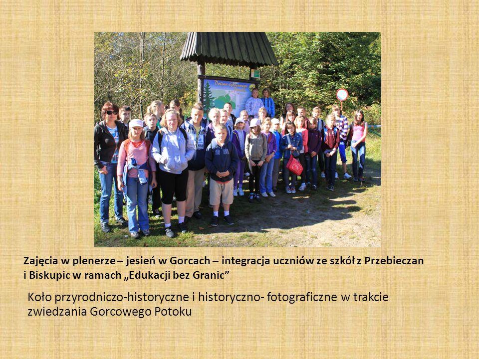 Zajęcia w plenerze – jesień w Gorcach – integracja uczniów ze szkół z Przebieczan i Biskupic w ramach Edukacji bez Granic Koło przyrodniczo-historyczn