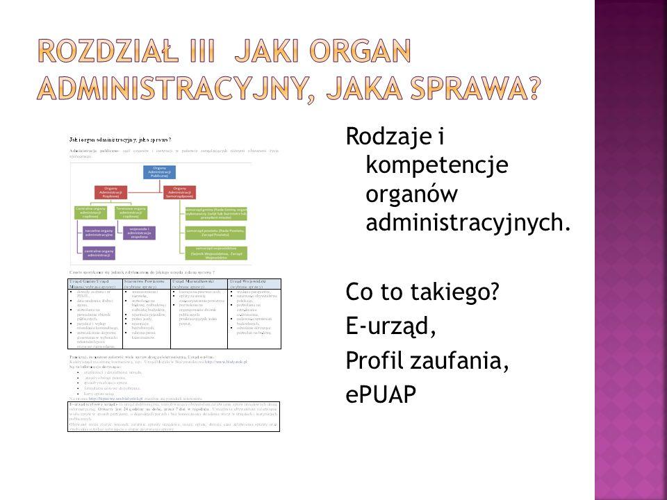Rodzaje i kompetencje organów administracyjnych. Co to takiego? E-urząd, Profil zaufania, ePUAP