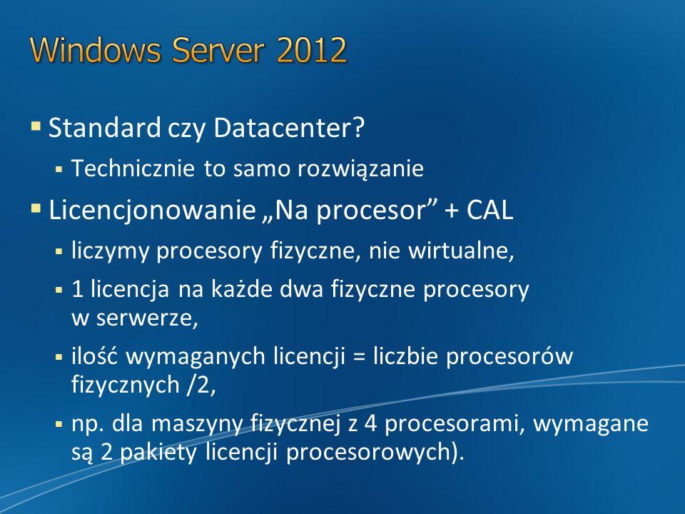 Standard czy Datacenter.
