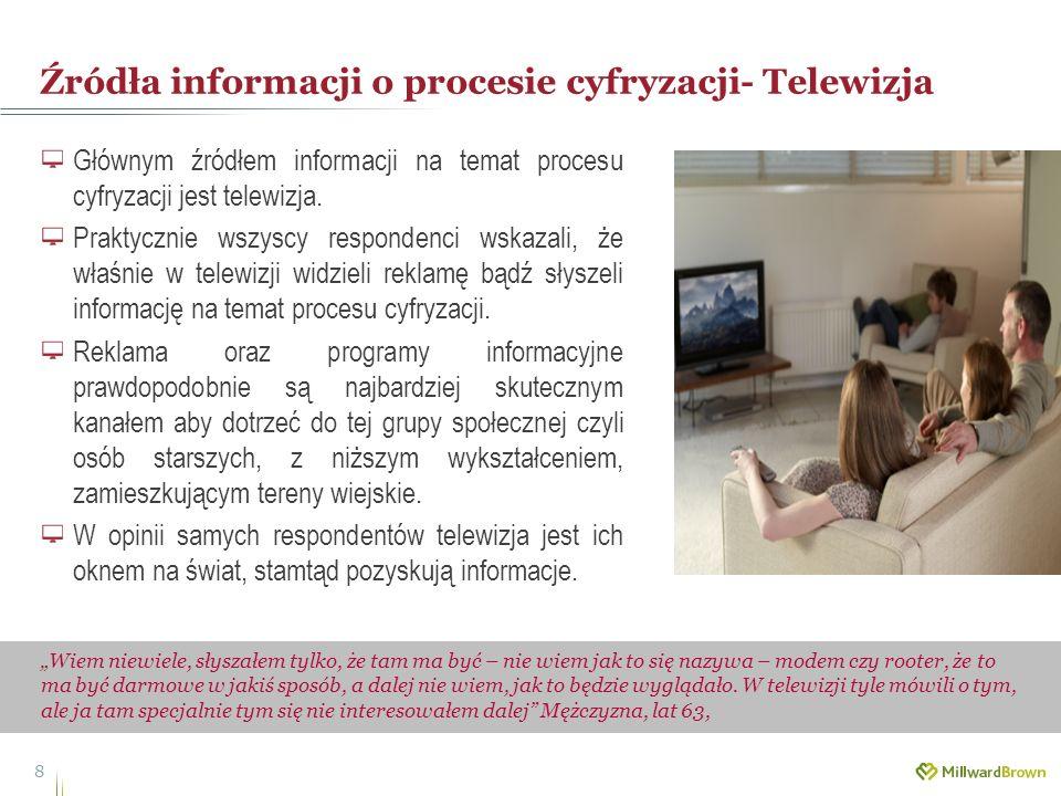 Źródła informacji o procesie cyfryzacji- Telewizja 8 Wiem niewiele, słyszałem tylko, że tam ma być – nie wiem jak to się nazywa – modem czy rooter, że