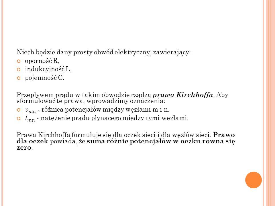 P ROSTY OBWÓD ELEKTRYCZNY
