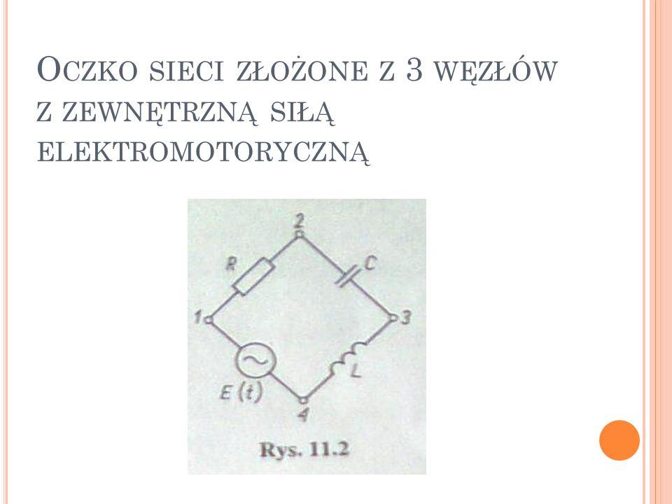 Najpierw zajmiemy się badaniem obwodów elektrycznych w sytuacjach opisywanych równaniem (11.2), tj.
